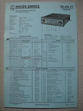 PHILIPS nd484vt Autoradio schema elettrico su cartone Blu Edizione 05/58