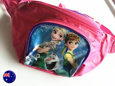 Girls Kids Frozen Travel waist phone small Hip Bum Sport Pink Bag zip Pouch Gift