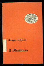 LEFEBVRE GEORGES IL DIRETTORIO EINAUDI 1953 RIVOLUZIONE FRANCESE