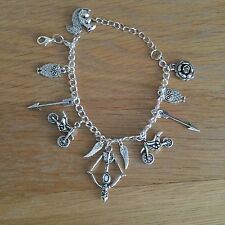 The Walking Dead Silver Plated Charm Bracelet Daryl Zombie UK Seller NEW
