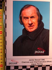photo presse FORMULE 1 JACKIE STEWART JAGUAR R1  2000  GRAND-PRIX FORMULA ONE