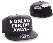 "OFFICIAL STAR WARS ""A GALAXY FAR, FAR AWAY"" BLACK SNAPBACK CAP HAT (BRAND NEW)"