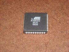 AT89C52-20JC ATMEL 8-Bit Microcontroller with 8K Flash  44PIN PLCC 20NS 2 PCS