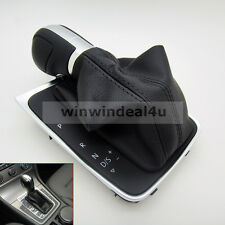 Genuine Leather AT DSG Gear Shift Knob Lever Cover For VW Golf MK7 5GG 713 203C