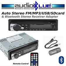 Digital Car Stereo -FM/MP3/USB/SDcard Player  AUX & Bluetooth Adapter Combo