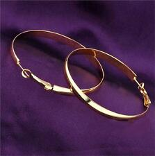 18K Gold Plated Fashion Big Hoop Long Earrings Jewelry for Women