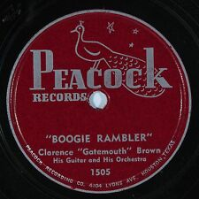 "HEAR! Blues 78 rpm CLARENCE ""Gatemouth"" BROWN Boogie Rambler PEACOCK 1505"