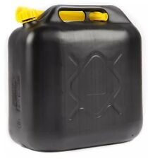 20L BLACK PLASTIC FUEL JERRY CAN DIESEL PETROL WATER 20 LITRE WITH SPOUT