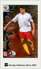 #87 Steven Gerrard Star Metalized 2010 Panini World Cup Soccer Trading Card