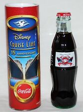 Disney Cruise Line DCL 15th Anniversary Coca Cola Coke Bottle with Tube  NEW