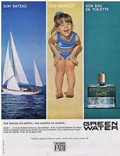 PUBLICITE ADVERTISING 044 1964 GREEN WATER Jacquues Fath eau de toilette 1
