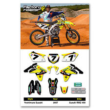 2007 Yoshimura SUZUKI RMZ 450 Dirt Bike Graphics kit Motocross Graphics Decal