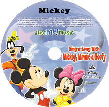 MICKEY MOUSE PERSONALIZED KIDS SING-A-LONG CD