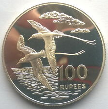 Seychelles 1978 Tailed Tropic Bird 100 Rupees Silver Coin,Proof