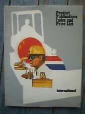 Original 1980 International Harvester Payling group Product Index Price List