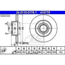 Disque de frein, 1 unités uat 24.0110-0178.1