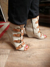 Ash limited jezebel bracelet zip high top bottes talons compenses taille 4 euro 37