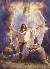 IN THE GARDEN  Ron DiCianni CANVAS Jesus Christ Angel Spiritual Art