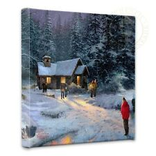 "Thomas Kinkade Wrap - Christmas Miracle  – 14"" x 14"" Gallery Wrapped Canvas"