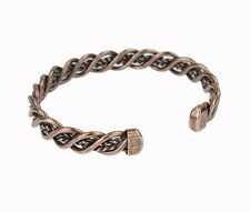 Men Women Cool Round Copper Alloy Magic Therapy Magnetic Bangle Bracelet