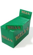 50 Booklets Original Rizla Green Standard Regular Size Rolling Papers 100% genui