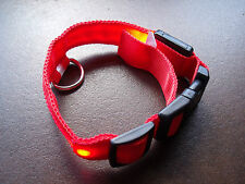 PET SMALL DOG LED COLLAR FLASHING LIGHT REFLECTIVE BAND ADJUSTABLE