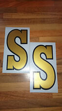 VESPA SS VINYL STICKERS FITS LEGSHIELD/FLY SCREEN CLASSIC STYLE (Not Printed)