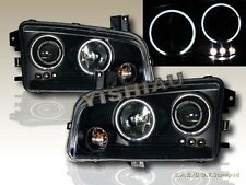 2006-2008 DODGE CHARGER LED DUAL HALO CCFL BLACK PROJECTOR HEADLIGHTS