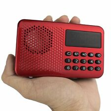 FM Portable 87,5-108 MHz Radio Player Récepteur MP3 USB haut-parleur PC+Batterie