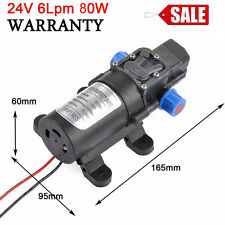 130PSI DC 24V 6Lpm 80W Micro Diaphragm High Pressure Water Pump Automatic Switch