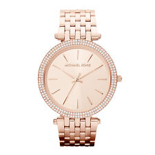 Michael Kors Ladies Pavé-Embellished Rose Gold-Tone Designer Watch MK3192