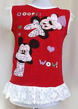 Minnie Kinder Trägertop T-shirt -Longshirt Gr. 122/128  /00179/