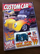 Custom Car Magazine August 1999 Sunbeam Rapier, Ford Deluxe Coupe, Willys Sedan
