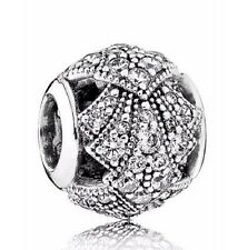 NEW Authentic Pandora Bead Oriental Fan With Clear CZ Bead Charm  791906!