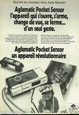 Publicité advertising 1974 Appareil photo Agfamatic Pocket sensor