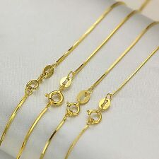 New Fine Pure AU750 18K Yellow Gold Women's Snake Chain Necklace 17.7inch 1pcs