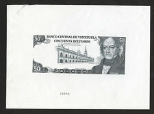 Banco Central De Venezuela, 1981-1990 Issue Color Trial Essay By ABNC. Lot 268