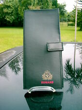 2006 LEATHER CUNARD  QUEEN MARY 2 TRAVEL DOCUMENTS FOLDER + PAPERWORK  INCLUDED
