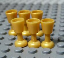 Lego Minifig Utensil Goblet Pearl Gold x 6PC