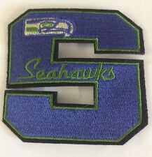 """Seattle Seahawks Vintage embroidered iron on patch 3"""" x 3"""" Nice!!!"""