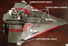 Custom Lego Star Wars Imperial Communications vessel with crew (SW Rebels)