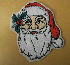 Santa/Father Christmas sew on motif Knitting/Sewing/Crafts/card making