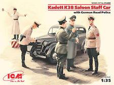 ICM Kadett K38 Saloon Staff Car with German Road Police 1:35 Bausatz Kit 35480
