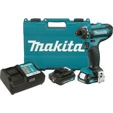 "Makita FD06R1 12V Max CXT™ Lithium‑Ion Cordless 1/4"" Hex Driver‑Drill Kit"