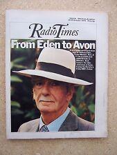 Radio Times/1974/Anthony Eden/Richard Waring/Heidi/Emma Blake/Lord Goodman/