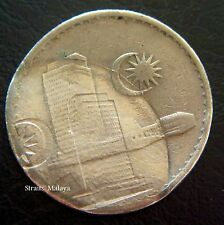 MALAYSIA 20 CENTS 1977  ***ERROR DOUBLE IMAGE PARLIAMENT HOUSE **