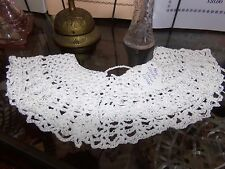 Victorian Attire Civil War New Wht Crochet Collar Accessory 19th Century Costume