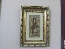 """Antique Berlin Wool Work Woolwork Framed Embroidery 12-1/2"""" x 17-1/2"""" - 5"""" x 10"""""""