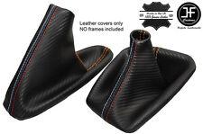 ARANCIA CUCITURE CARBON VINILE CUFFIA LEVA E FRENO PER BMW E36 E46 91-05 M///