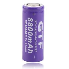 1pc 3.7V 26650 8800mAh Li-ion Rechargeable Battery For LED Flashlight Torch LO